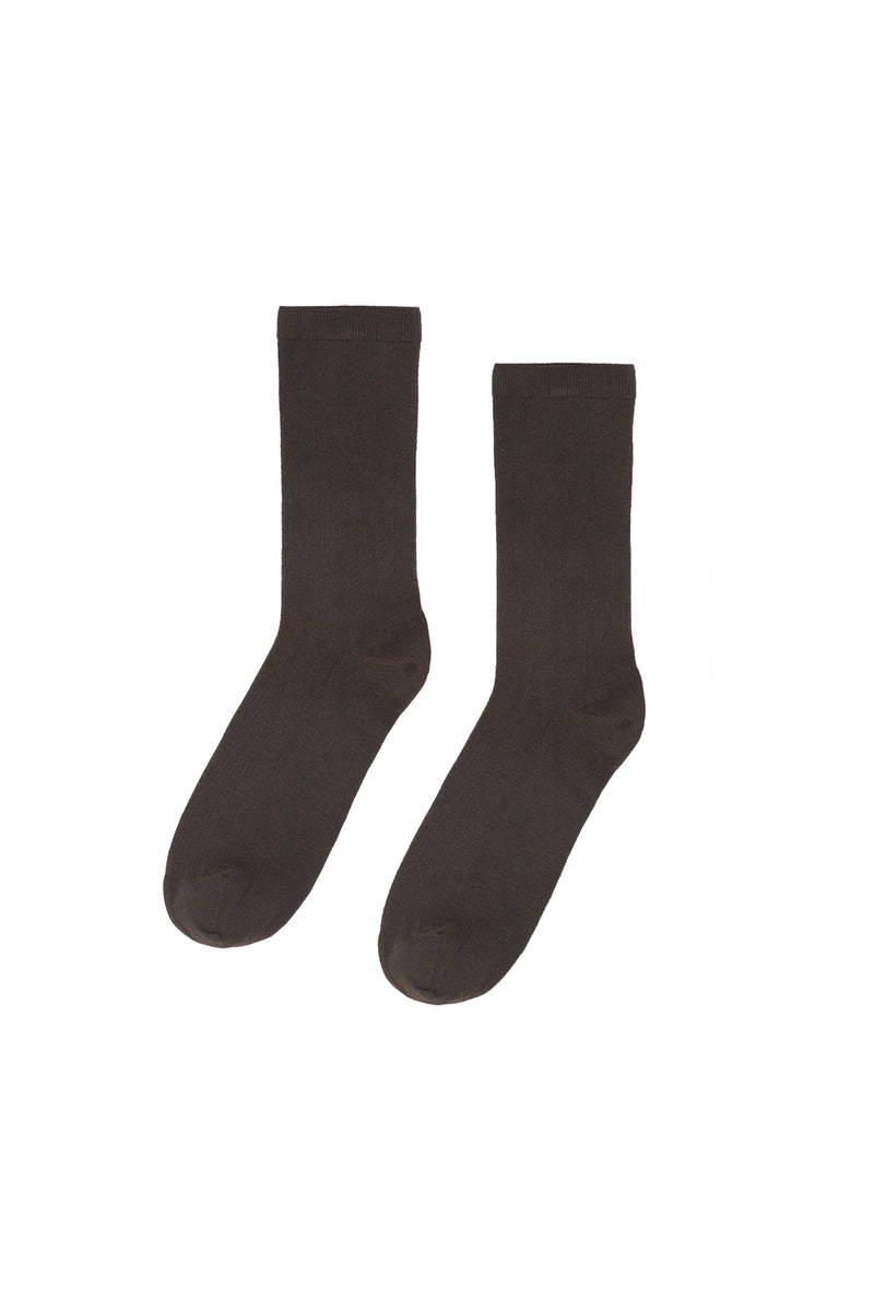 Women Classic Organic Socks Coffe Brown