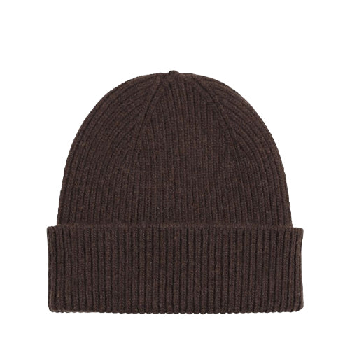 Merino Wool Beanie Coffee Brown