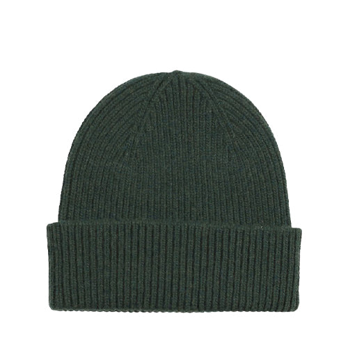 Merino Wool Beanie Hunter Green