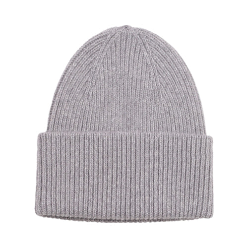 Merino Wool Beanie Tall Heather Grey