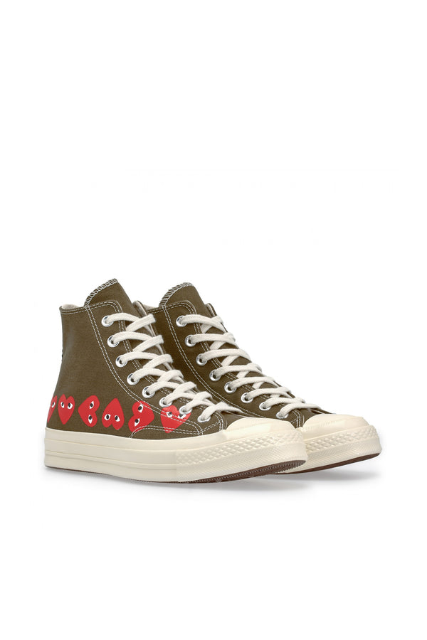Chuck Taylor Multi Heart High Sneakers Khaki