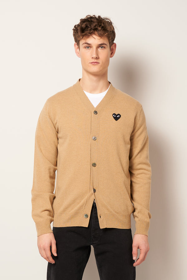Black Heart Cardigan Light Camel