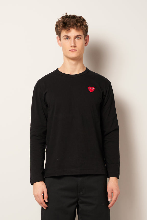 Red Heart LS T-shirt Black