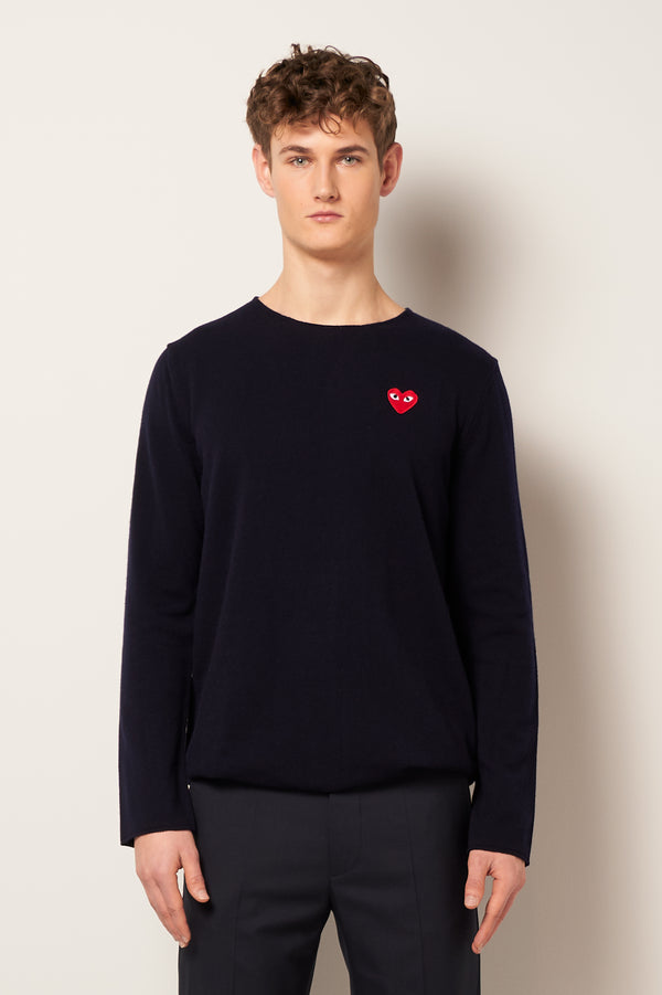 Red Heart Sweater Navy