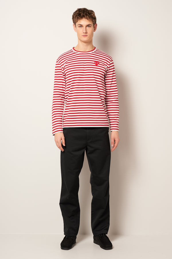 Striped LS T-shirt Red