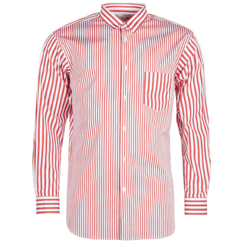 Mens Striped Shirt Red