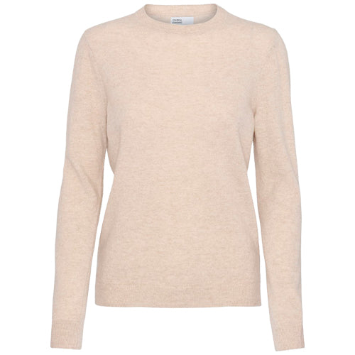 Women Merino Wool Crew Ivory White