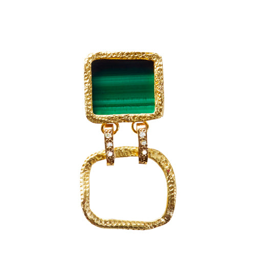 Roxy Delight Earring W. Malachite