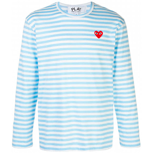 Striped LS T-shirt Light Blue