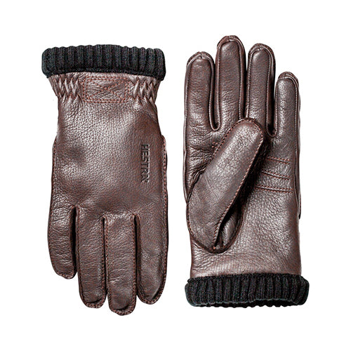 Deerskin Primaloft Gloves Dark Brown