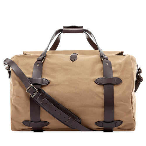 Medium Rugged Twill Duffle Bag Tan