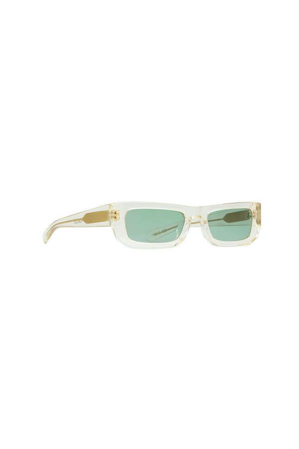 Bricktop Sunglasses Crystal Yellow/Solid Teal Lens