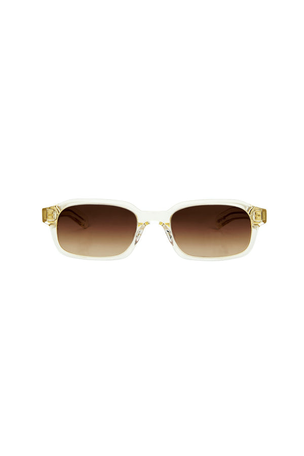 Hanky Sunglasses Crystal Yellow/Brown Gradient Lens