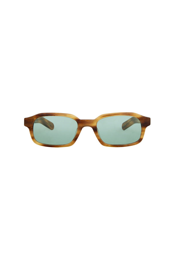 Hanky Sunglasses Donegal Horn/Solid Teal Lens