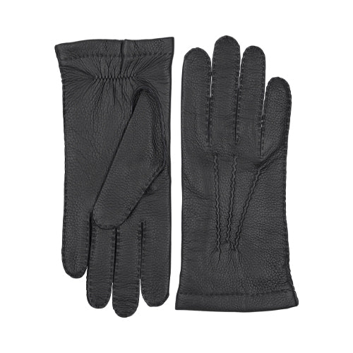 Elk Handsewn Cashmere Gloves Black