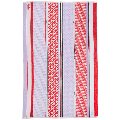 Beach Towel Tissy Terry Monogram/Lilac Watermelon