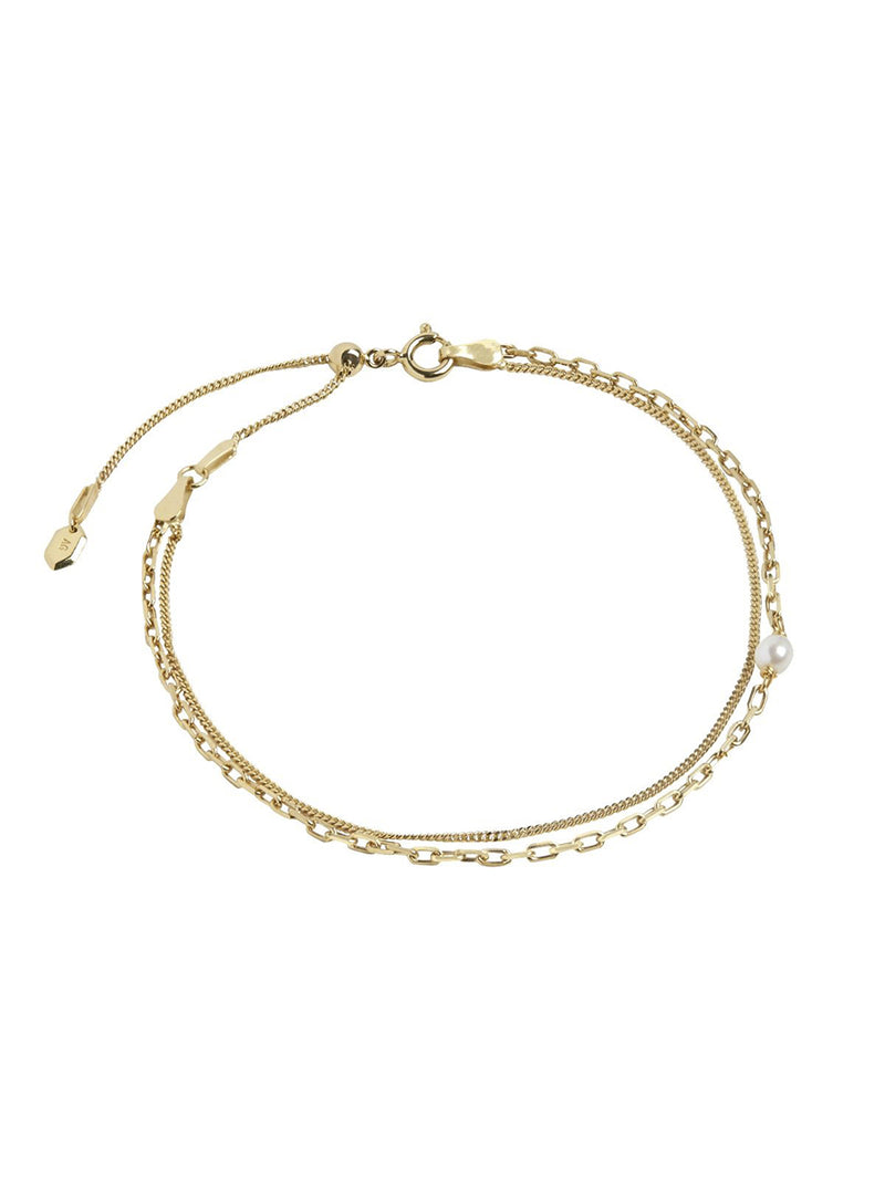 Cantare Anklet Gold