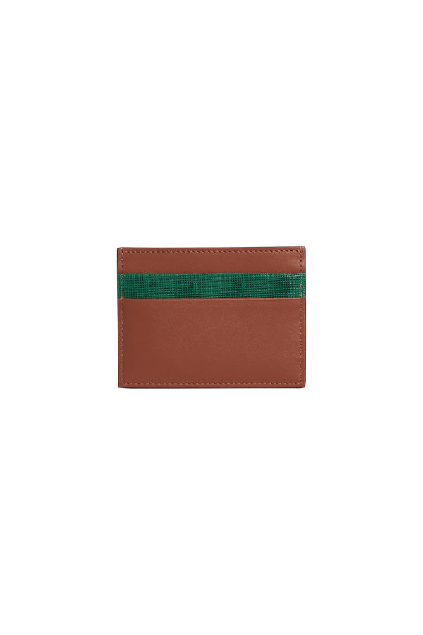 Contrast Card Holder Cognac
