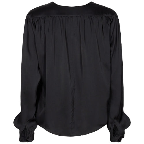 Straw LS Shirt Black