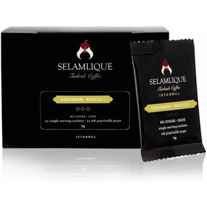 Selamlique Cardamon Turkish Coffee Sachets (Pack of 24pc)