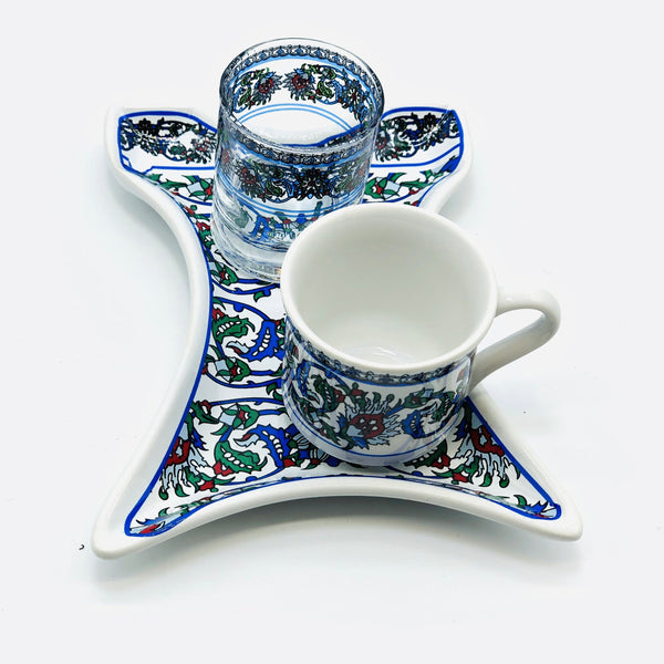 "One Person Turkish Coffee Set ""Green Clove Kaftan"""