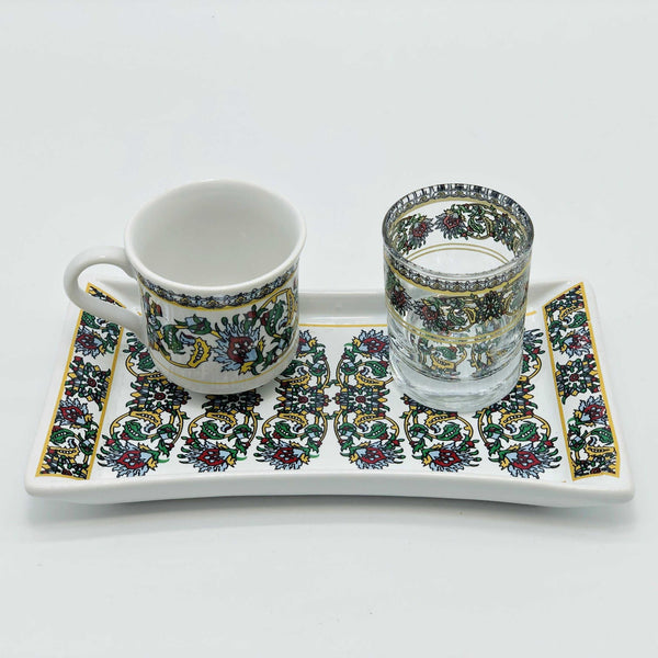 "One Person Turkish Coffee Set ""Red Dragon"""