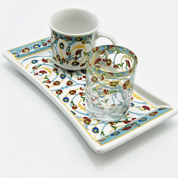 "One Person Turkish Coffee Set ""Red and Blue Clove"""