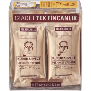 Kurukahveci Mehmet Efendi Turkish Coffee sachets 12pc