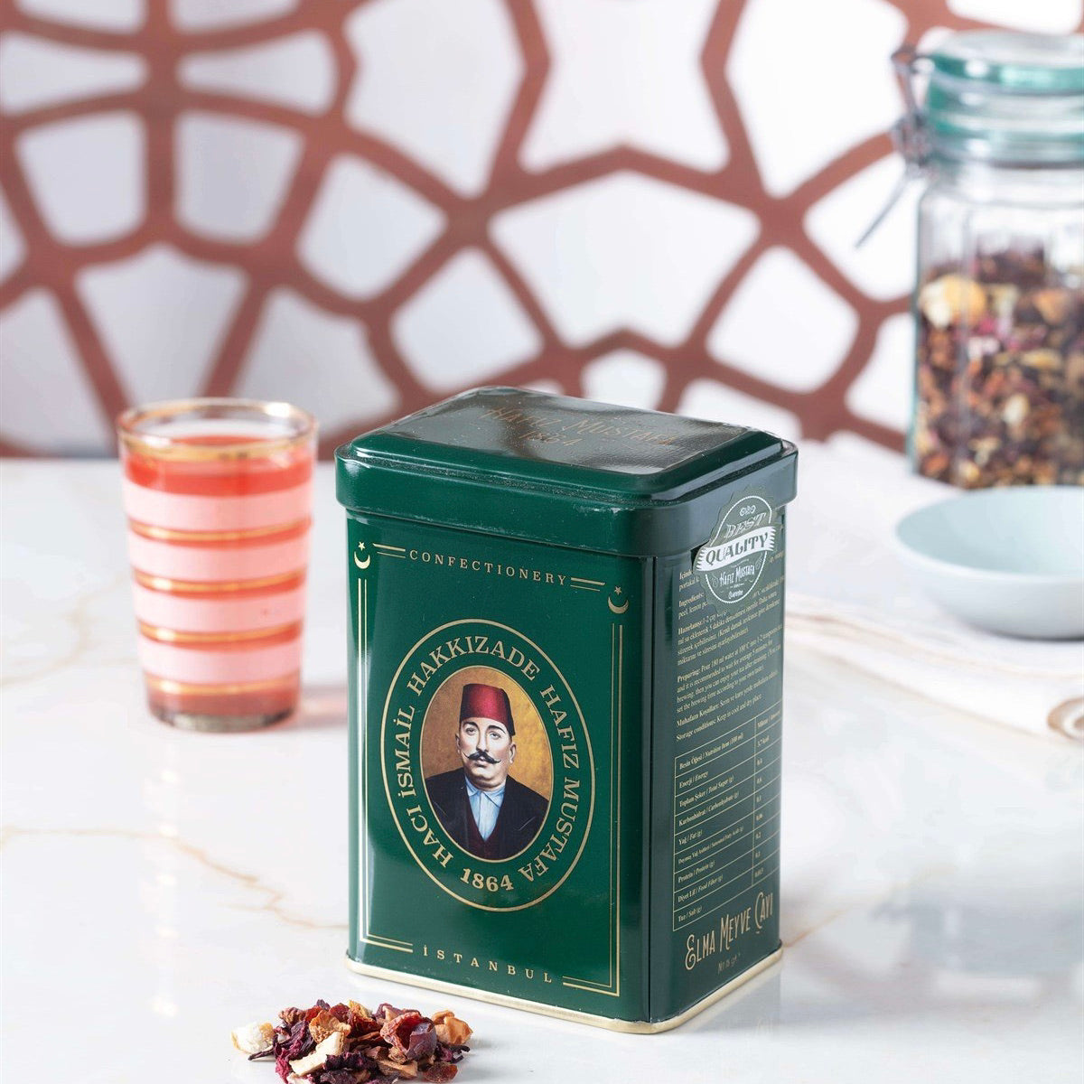 Hafız Mustafa, Apple Fruit Tea in Metal Box, 75 g