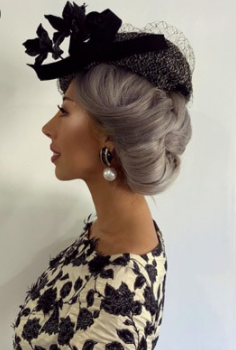 The leaning modern hat