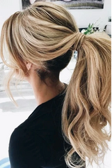 The alluring ponytail