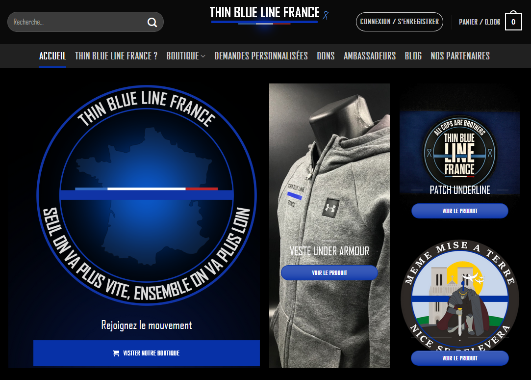 Site internet de Thin Blue Line France