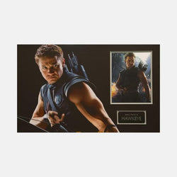 Hawkeye: Photograph Signed By Jeremy Renner Framed