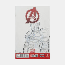 Avengers: Ironman Sketch Cover Original Art Framed by Andres Manuel Labrada