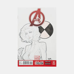 Avengers: Black Widow Sketch Cover Original Art Framed by Andres Manuel Labrada