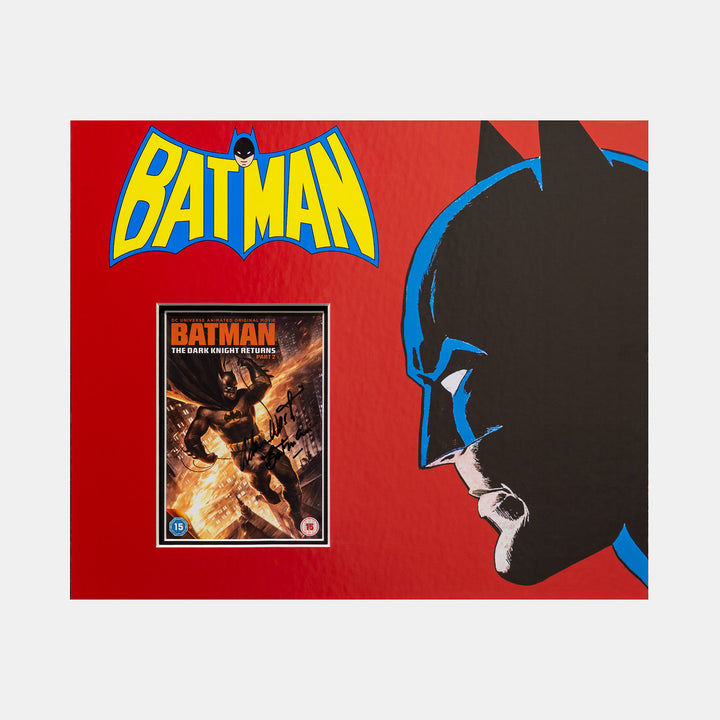 Batman: The Dark Knight DVD Cover Signed by Adam West Framed - worldofsuperheroesuk