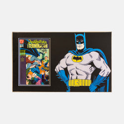 "Batman Deathstroke Comic 9 Signed ""Bats Regards, Bob Kane"" by Bob Kane Framed - worldofsuperheroesuk"