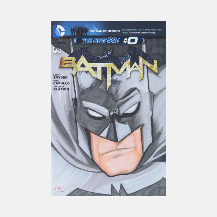 Batman By Eric Hodson Sketch Cover - worldofsuperheroesuk
