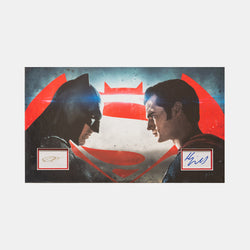 Batman V Superman: Framed Ben Affleck & Henry Cavil Signatures - worldofsuperheroesuk
