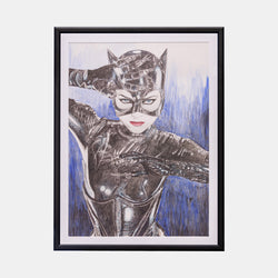 Catwoman Original Art Framed by Becky Knapp - worldofsuperheroesuk