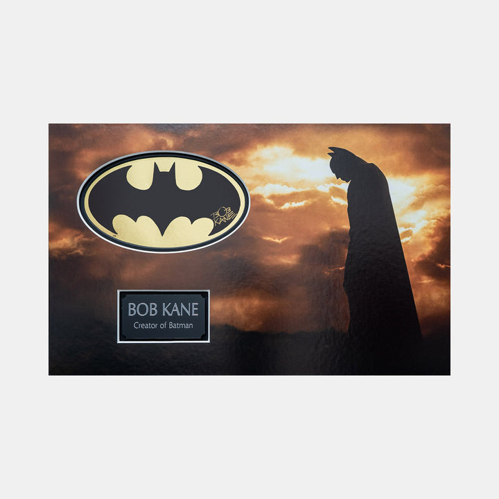Batman Gold Foil Sicker Signed by Bob Kane (Creator of Batman) Batman Begins