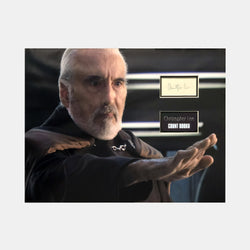 Star Wars: Count Dooku Christopher Lee Signature