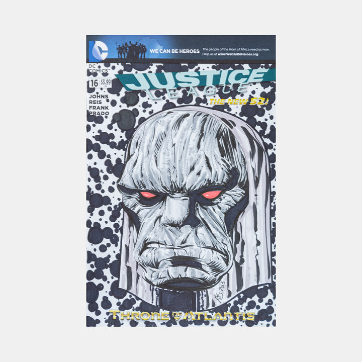 Darkseid By Greg Kirkpatrick Sketch Cover - worldofsuperheroesuk
