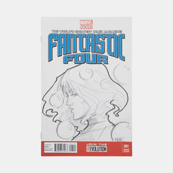 Fantastic Four: Invisible Girl Sketch Cover Original Art Framed by Andres Manuel Labrada