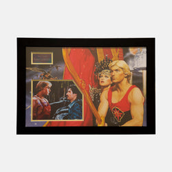 Flash Gordon: Photograph Signed By Sam J. Jones Framed - worldofsuperheroesuk