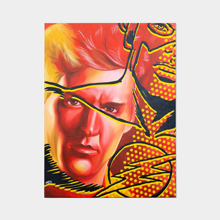 Wally West is The Flash Oil Painting By MUTE - worldofsuperheroesuk