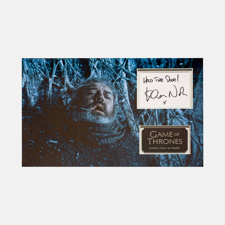 Game of Thrones: Hodor Quote and Autograph Signed by Kristian Nairn Framed - worldofsuperheroesuk