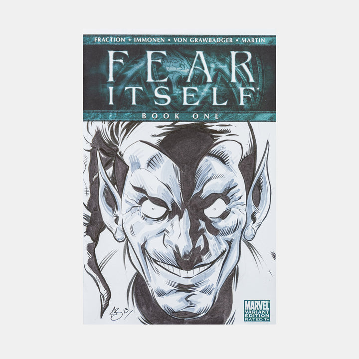 Green Goblin By Greg Kirkpatrick Sketch Cover - worldofsuperheroesuk