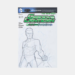 Green Lantern By Andres Manuel Labrada Sketch Cover - worldofsuperheroesuk