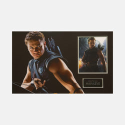 Hawkeye: Photograph Signed By Jeremy Renner Framed - worldofsuperheroesuk